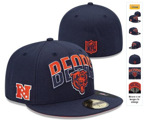 2013 Chicago Bears NFL Draft 59FIFTY Fitted Hat 60D10
